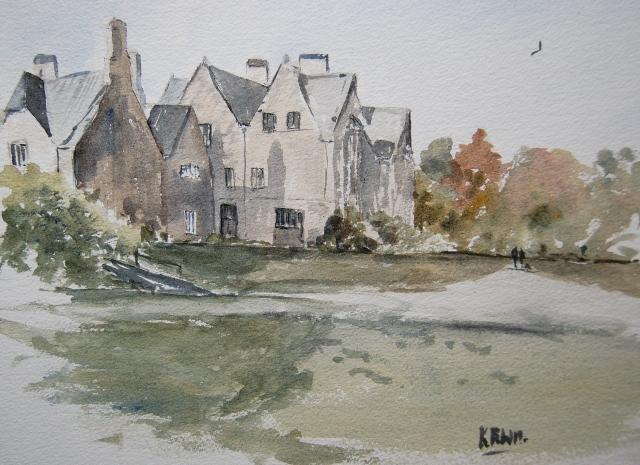 Delamore House watercolour