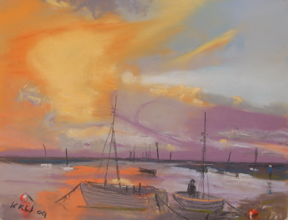 Brancaster pastel 'I enjoyed the bold colours and finding the pastels in my box' KRW