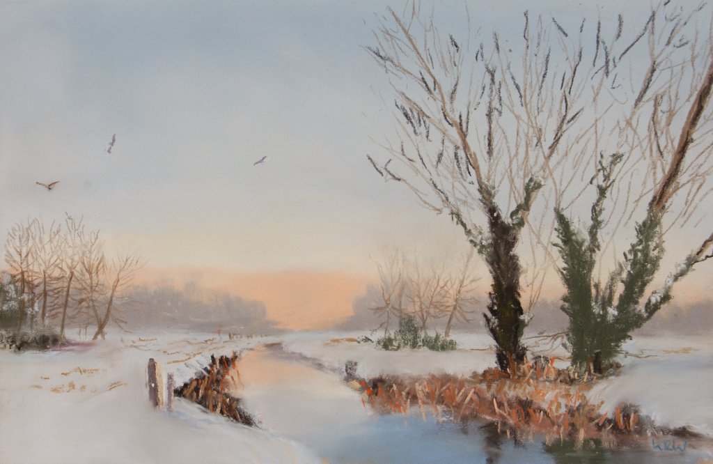 First Snow pastel 'I like the various shades in the reeds' KRW
