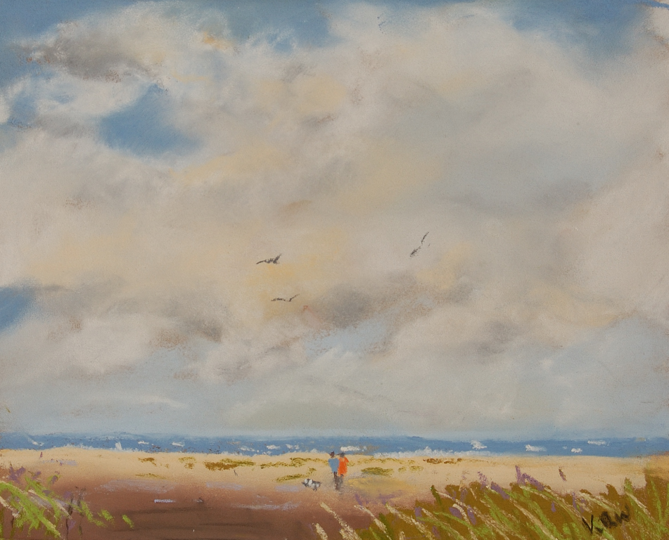 Holkham beach pastel