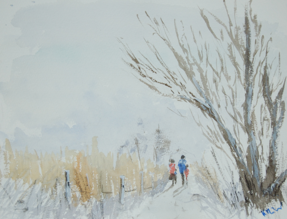 Winter Walk watercolour